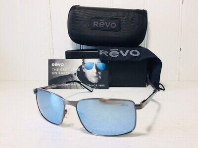 REVO RE1047 00 BL KNOX Gunmetal Frame w/Blue Water POLARIZED Lens Suns (Revo Blue Lens)