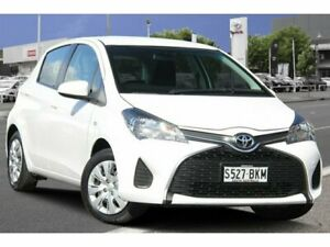 2016 Toyota Yaris NCP130R Ascent Glacier White 4 Speed Automatic Hatchback Adelaide CBD Adelaide City Preview
