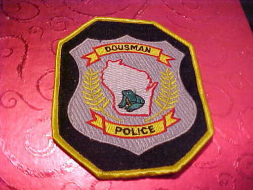DOUSMAM WISCONSIN POLICE PATCH SHOULDER SIZE UNUSED