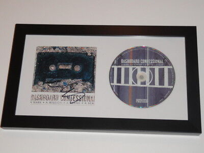Chris Carrabba Signed Framed Dashboard Confessional Cd Cover Rare