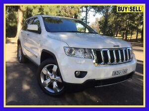 2011 Jeep Grand Cherokee WK Limited (4x4) White 5 Speed 5 SP AUTOMATIC Wagon Lansvale Liverpool Area Preview