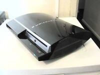 A SONY PLAYSTATION 3 CONSOLE PS3 CONSOLE ONLY AND POWER CABLE
