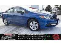 2015 Honda Civic DX, iPod Jack, One Owner !!