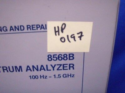 Hp 8568b Analyzer Troubleshooting Repair Manual V1