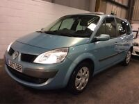 2007 RENAULT GRAND SCENIC 1.6 PETROL MANAUL 7 SEATER EXCELLENT DRIVE LONG MOT LOW MILES NOT ZAFIRA
