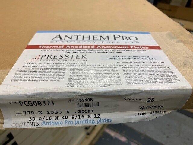 Anthem Pro Chemical Free Litho Plates PCG08321