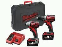 Milwaukee M18 Cordless Twin Kit