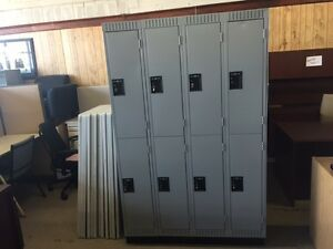 LOCKERS, LOCKERS, ALMOST NEW BANK OF THREE ONLY $279.99