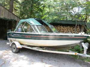 Princecraft aluminum boat 70 HP Johnson w trailer