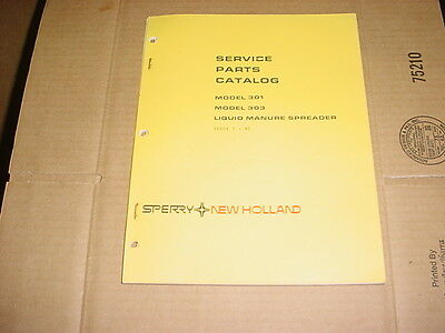 New Holland 301 303 Liquid Manure Spreader Service Parts Catalog Manual List