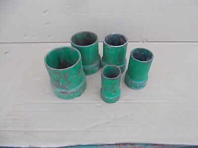 Greenlee Set Of 5 Cable Tugger 640 Threaded Extension Bushing Pipe Adapter