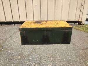Military Industrial Metal Trunk Cloverdale Belmont Area Preview