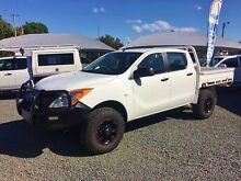2013 Mazda BT-50 MY13 XT (4x4) White 6 Speed Manual Dual Cab Chassis Newcastle Newcastle Area Preview