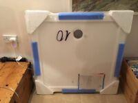 Shower tray 900/900mm, still in packaging
