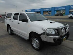 2014 Toyota Hilux KUN26R MY14 SR Double Cab White 5 Speed Automatic Utility Fyshwick South Canberra Preview
