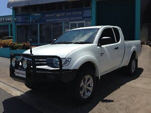 2012 Mitsubishi Triton MN MY12 GLX (4x4) White 5 Speed Manual Extracab Bowen Hills Brisbane North East Preview