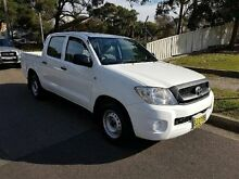 2010 Toyota Hilux GGN15R 09 Upgrade SR White 5 Speed Automatic Dual Cab Pick-up Yagoona Bankstown Area Preview