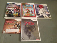 Nintendo Wii Games 10$ each or 3 for 25$