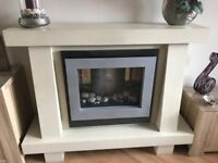 Electric fire and surround very good condition.