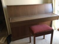 PIANO-UPRIGHT SILBERMAN AND STOOL. VERY GOOD CONDITION HARDLY USED. BUYER COLLECTS
