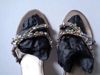 Sparkly sandals size 36 (3.5) £20