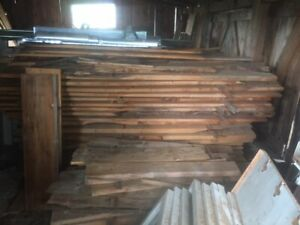 Lumber, antique doors and windows, cabinets