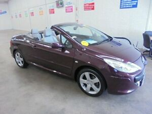 2006 Peugeot 307 T6 CC Dynamic Maroon 4 Speed Sports Automatic Cabriolet Wangara Wanneroo Area Preview