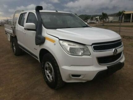 2013 Holden Colorado RG MY14 LX CREW CAB White Steptronic Dual Cab Chassis