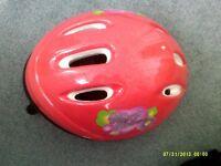 Hearts & flowers childs helmet