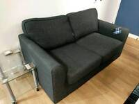 """DFS Two Seater """"Revive"""" Sofa - Charcoal"""