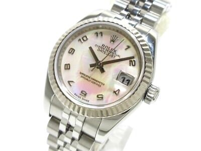 Auth ROLEX Datejust 179174NA Pink Shell Z315202 Women