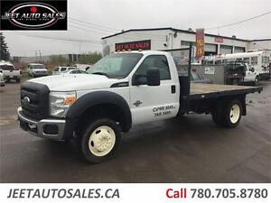 2012 Ford F-550 XL 4X4 6.7L Diesel w/12' Flat Bed LOW KMS