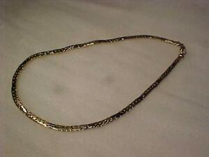 #3389-18k  y/w/gold Italian designed necklace-Unusual pattern/link Weighs