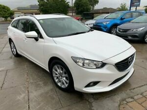 2015 Mazda 6 GJ1032 Sport SKYACTIV-Drive Snowflake White Pearl 6 Speed Sports Automatic Wagon Park Holme Marion Area Preview