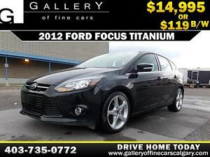 2012 Ford Focus TITANIUM $119 bi-weekly APPLY NOW DRIVE NOW