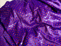 Lilac, Lime and Purple Silky Satin Sequin Dance Fabric