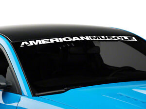 AMERICAN MUSCLE Mustang Windshield Banner