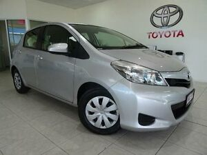 2012 Toyota Yaris NCP130R YR Silver 5 Speed Manual Hatchback Westcourt Cairns City Preview