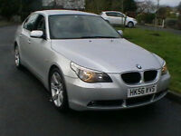 07 BMW 520D SE DIESEL 5 DR SALOON IN METALLIC SILVER HPI CLEAR SPARES OR REPAIRS