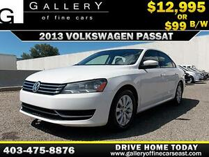2013 Volkswagen Passat 2.5L $99 bi-weekly APPLY NOW DRIVE NOW