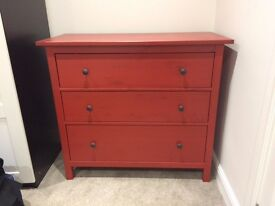Large Red chest of drawers