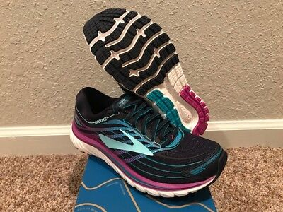 172c80f1e249 Women s Brooks Glycerin 15 Running Shoes Size 8 New In Box Blue  PurpCact Teal