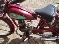 Classic 98cc James Comet trials motorcycle