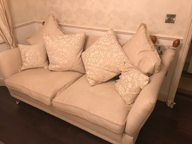 3 seater (beige) sofa - cushions included