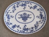 Large oval platter. Minton Delft design. £15 ONO