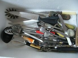 large box of various kitchen cutterly untensils etc approx 35+ - southbourne