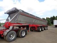 2000 RED RIVER 4 AXLE LIVE BOTTOM DUMP TRAILER