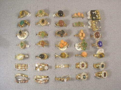 43 ..  DESIGNER RINGS..25 SEMI-PRECIOUUS..14  SMALLER CZ