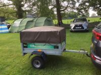 Complete set camping equipment including trailer