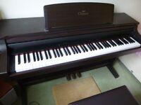 YAMAHA CLAVINOVA CLP-155 STEREO ELECTRIC DIGITAL PIANO AND STOOL